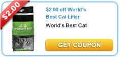 $2.00 off World's Best Cat Litter -- FREE + $2 MONEY MAKER!!