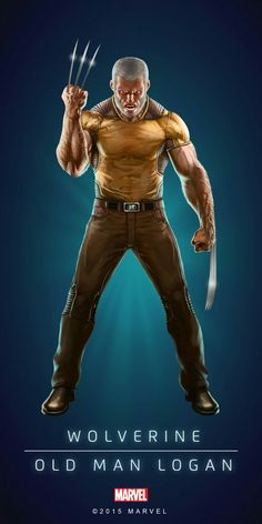 "Marvel Comics: Wolverine ""Old Man Logan"" Wolverine Old Man Logan, Marvel Wolverine, Hq Marvel, Marvel Comics Art, Marvel Heroes, Captain Marvel, Comic Movies, Comic Book Characters, Marvel Movies"