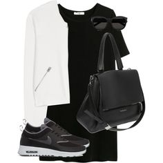 Untitled #7846 by alexsrogers on Polyvore featuring MANGO, Acne Studios, NIKE, Givenchy and Yves Saint Laurent