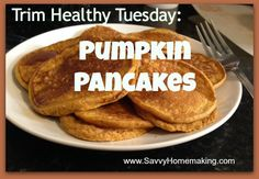 pumpkin pancakes recipe, THM, Trim Healthy Tuesday