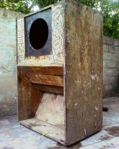 Tubby's Hometown Hifi box, pre-restoration. Photo courtesy Jeremy Collingwood.