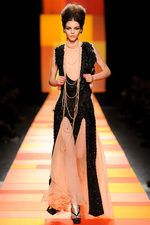 Jean Paul Gaultier Our favorite from JPG this year - the nude and black layered sheers feel deco and casual at once