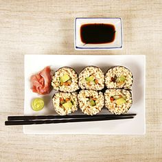 Eat more veggie sushi with brown rice...it burns fat and tastes amazing.