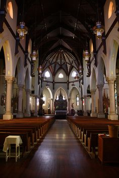 The interior of Ascension Catholic Church, Donaldsonville, LA