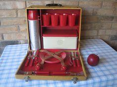 antique-Picnic-Trunk-Suitcase-box-enamel-Porcelain-dinner-Sweden ...