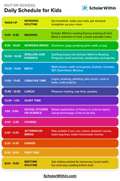 Daily Schedule for Kids Daily Schedule for Kids Are your kids out of school? The school closures are affecting thousands Daily Routine Kids, Daily Schedule Kids, Preschool Schedule, Homeschool Kindergarten, Toddler Schedule, Daily Routine Schedule, Daily Schedule Template, Summer Schedule, Teaching Kids