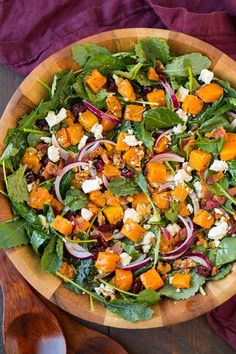 Butternut+Squash+and+Bacon+Salad+with+Maple-Rosemary+Vinaigrette