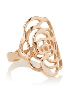 59% OFF Chloe Collection By Liv Oliver Rose Open Flower Ring,