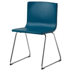 Break room BERNHARD Chair - chrome plated/Kavat blue - IKEA