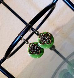 Ohrringe ♥ Emaille-Plättchen und Ornamente  von Your Sweet Dreams auf DaWanda.com