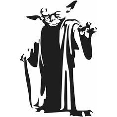 Yoda Die Cut Vinyl Decal PV1166
