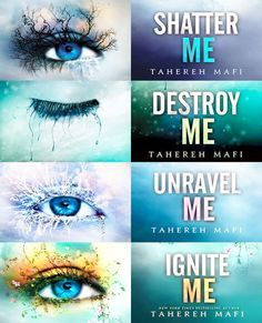 Shatter Me series by Tahereh Mafi So good. So so so good.