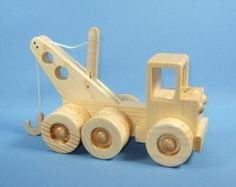 Wooden Toy Tow Truck in Walnut & Wooden Toy от asummerafternoon