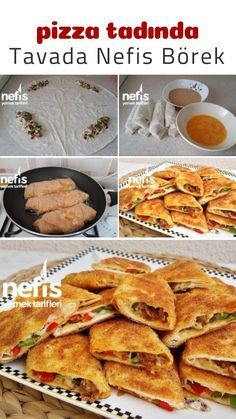 Pizza Tadında Tavada Börek – Nefis Yemek Tarifleri – Tatlı tarifleri – Las recetas más prácticas y fáciles Pastry Recipes, Pizza Recipes, Dinner Recipes, Smoothie Recipes, Salad Recipes, How To Make Pastry, Mothers Day Dinner, Paleo Pizza, Pizza Pizza