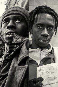 Melilla. El drama de la inmigración en Europa. Subsaharianos de Mali, Senegal, Ghana, y Guinea Bissau.