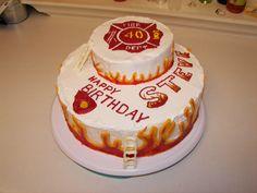 Fire Brigade Christmas Cake Funny
