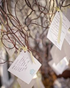 Guest post well wishes for the couple on a tree