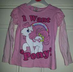 My little pony pink t-shirt, age 2-3 | eBay