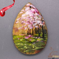 New Fashion Pendant Hand Painted Scenery  Natural Gemstone   ZL805503 #ZL #Pendant