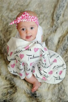 Love this!  Personalized baby blanket.