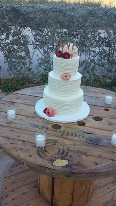 Three Tier Wedding Cake to share the Love (On Top)
