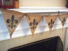 MARDI GRAS French Banner  Fleur De Lis  New by TheFrenchCanary