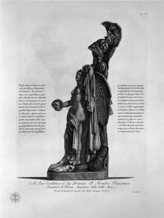Trophy of the ancient marble Clementino at the Vatican Museum, which was found in 1772 - Giovanni Battista Piranesi