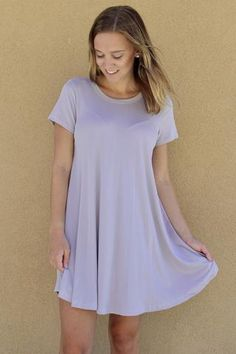 Cool Lilac T-Shirt Dress