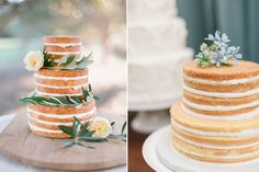 5 fun layered cake ideas every baker should try. Cakes are getting a serious make-under in the new naked cake trend and we love it. Here are 5 naked cake ideas Engagement Cake Toppers, Engagement Cakes, Engagement Ideas, Cheap Clean Eating, Clean Eating Snacks, Nake Cake, Buckwheat Cake, Wedding Cake Photos, Wedding Cakes