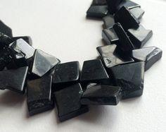 Black Onyx Rough Beads Raw Black Onyx Nugget by gemsforjewels