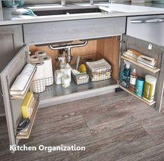 21 Small Kitchen Cabinet Organization and Storage Space Saving Ideas Modern Kitchen Cabinets Cabinet Ideas Kitchen Organization Saving small SPACE Storage Small Kitchen Cabinets, Smart Kitchen, New Kitchen, Kitchen Ideas, Kitchen Inspiration, Minimal Kitchen, Kitchen Layout, Awesome Kitchen, Rustic Kitchen