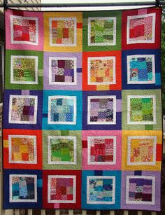 scrappy rainbow quilt by sewcraftyjess, via Flickr