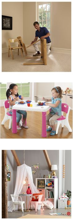 Achetez la table d& Target for Kids que vous adorerez chez Grea - Big Girl Rooms, Wood Toys, Girls Bedroom, Bedrooms, American Girl, Playroom, Diy And Crafts, Kids Room, Maternity