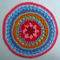 Crochet Mandala Wheel made by Fiona, London, UK for yarndale.co.uk