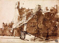 Голландский сельский дом в лучах солнца. Харменс ван Рейн Рембрандт