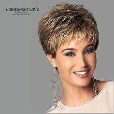 Femmes synthétique perruques courtes pixie cut coiffure frange blond foncé racines naturel cheveux raides perruques de mode sexy pleine perruques peruca