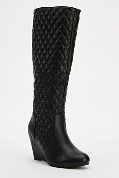 Womens Ladies Black Quilted Wedge Heel Knee High Boots Size UK 4,6,7,8 New Click On Link To Visit My Ebay Shop http://stores.ebay.co.uk/all-about-feet Useful Info: - Standard Size - Standard Fit - By Tom & Eva - Black In Colour - Heel Height: 3.5 Inches - Inner Side Zip Fastening - Quilted Upper - Synthetic Leather Upper - Textile Lining #boots #kneehighboots #kneeboots #black #blackboots #wedge #wedges #quilted #fashion #footwear #ebay #ebayseller #ebayshop #ebaystore