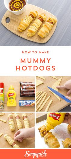 Scare up some fun at your Halloween party with this Mummy Hot Dogs appetizer recipe.