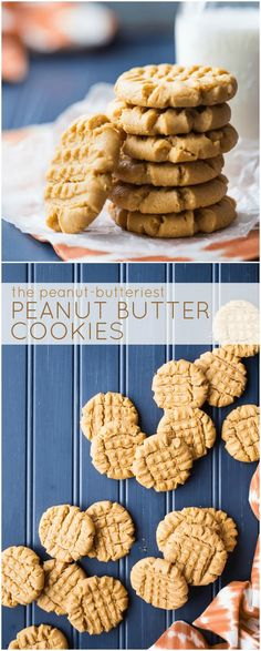 Flourless Peanut Butter Cookies: my family has been making this recipe for years and it is THE BEST! So much peanut butter flavor! #easy #chewy #soft #best #recipe #flourless #glutenfree #peanutbutter #cookies via @bakingamoment