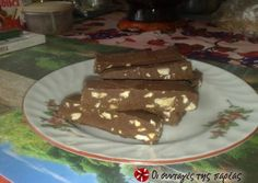 Chocolate bars with tahini and honey Recipe by Cookpad Greece Snack Recipes, Dessert Recipes, Cooking Recipes, Snacks, Greek Desserts, Greek Recipes, Sweet Cooking, Cooking Time, Chocolate Log