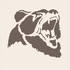 GRIZZLY Bear Stencil  4 Sizes Available Create por SuperiorStencils