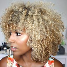 Big Afro hairstyles are basically the bigger and greater version of the Afro hairstyles. Afro which is sometimes shortened as 'FRO, is a hairstyle worn naturally outward by The African American black people. Blonde Natural Hair, Blonde Curls, Curly Blonde, Natural Curls, Natural Beauty, Curly Afro Hair, Curly Hair Styles, Natural Hair Styles, Natural Afro Hairstyles