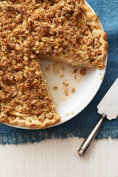 Mix local apple varieties to yield a heavenly perfumed pie. It features an apple-cheddar combo that is out of this world, and the tasty crumble on top adds good texture.