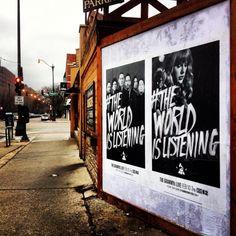 More #TheWorldIsListening artwork spotted in Chicago!