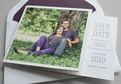Kleinfeld Paper || Chantilly Save-the-Date with Photo