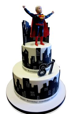 Superman in New York Birthday Cake  DUE is an elegant Italian restaurant on the upper side of Manhattan. The host is gracious and helpful, paying attention to all details and the food is superb!  This was the chosen venue for an 87th birthday party catering for thirty guests. It was a momentous celebration!  http://cmnycakes.com/gallery2/v/Cakes+For+All+Occasions/Superman+in+New+York+Birthday+Cake.html