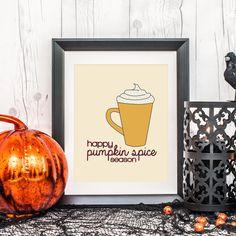 Pumpkin Spice Print, I Love Pumpkin Spice, Autumn Prints, Autumn Wall Art, Fall Home Decor, Autumnal Decor, Autumn Art, Wall Decor on Etsy, $5.00