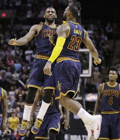 Bryant and Lesar. The Bryant Sports Show. The Bryant Wrestling Show. LeBron James. Kyrie Irving. King James. Kevin Love. Tristan Thompson. JR Smith. Andrew Bogut. Derrick Williams. Cleveland Cavaliers. Go Cavs. Champions. Defending Champs. Basketball. NBA. Ball So Hard. Ball Is Life. Basketball Is Life. Chest Bump. Sports. Podcast. 23.