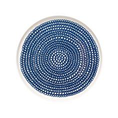In Good Company Siirtolapuutarha plate 20 cm, blue - Marimekko