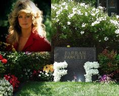 Mary Farrah Leni Fawcett (February 1947 – June Fawcett began her career in 1968 in commercials and guest roles on television. Cemetery Headstones, Old Cemeteries, Cemetery Art, Graveyards, Unusual Headstones, Famous Tombstones, Celebrities Who Died, Famous Graves, Farrah Fawcett